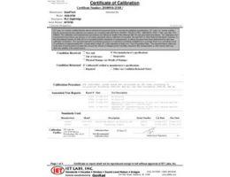 Certificado de calibración trazable NIST (incluido)