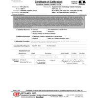 Calibración acreditada ISO-17025 con datos de prueba