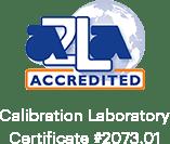 Certificado de Laboratorio de Calibración Acreditado AZLA # 2073.01